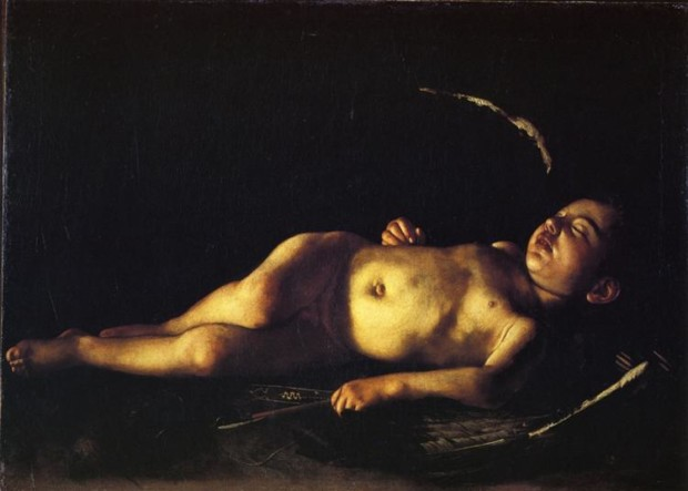 Caravaggio, Sleeping Cupid,1608, Palazzo Pitti, Florence, Italy