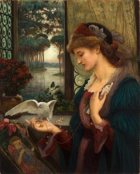 Marie Spartali Stillman, Love's Messenger, 1885, Delaware Art Museum,