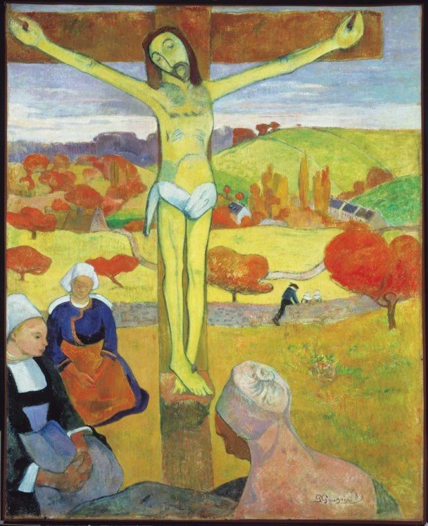 Paul Gauguin, the Yellow Christ, 1891, Albright-Knox Art Gallery
