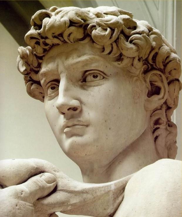 Detail of David, Michelangelo Buonarroti, 1501, Galleria dell'Accademia, Florenze