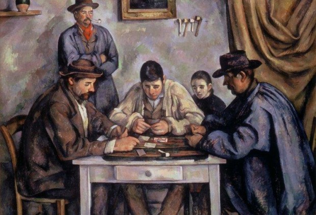 Paul Cezanne, The Card Players, 1890–92, Barnes Foundation, Philadelphia, Pennsylvania