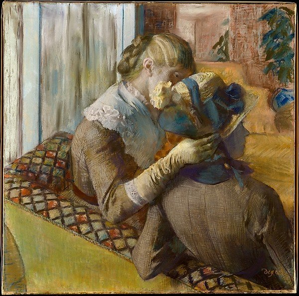 Edgar Degas, At the Milliner's, 1881, Metropolitan Museum of Art. edgar degas milliners