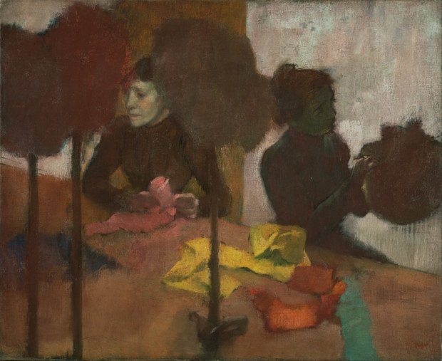 Edgar Degas, The Milliners, about 1882 - before 1905, The J. Paul Getty Museum, Los Angeles edgar degas milliners