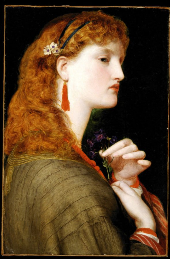 May Margaret, Frederick Sandys, 1865-1866, Delaware Art Museum,