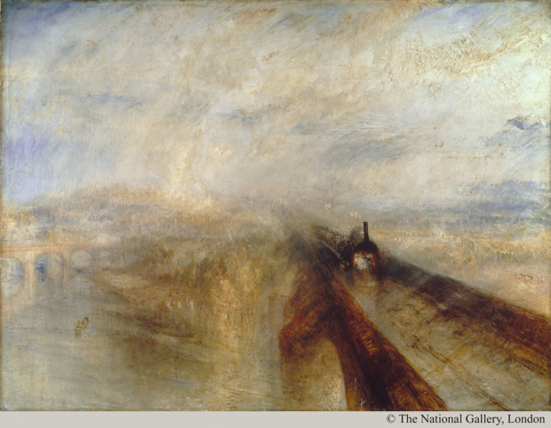 J.M.W. Turner; Rain, Steam and Speed: The Great Western Railway, 1844 photography © ; The National Gallery, London