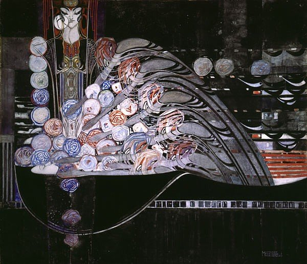 Margaret Macdonald Mackintosh, La Mort Parfumee, 1921, © The Hunterian Museum and Art Gallery, University of Glasgow