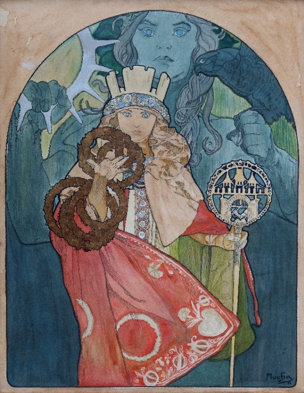 Poster for Sokol festival in Prague, 1912 Alphonse Mucha National Museum of Prague. CC-BY