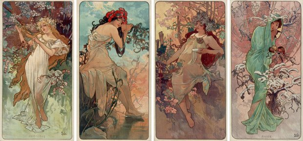 The Seasons, 1896 Alphonse Mucha National Library of France. Public Domain.