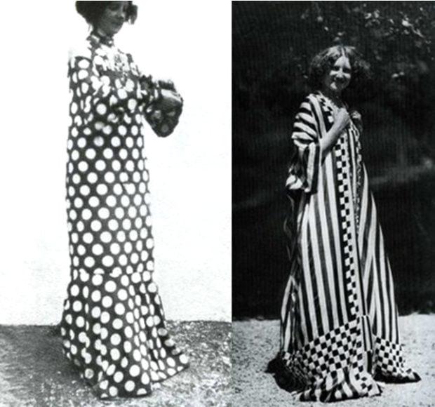 Emilie Flöge in her dresses Gustav Klimt emilie flöge gustav klimt