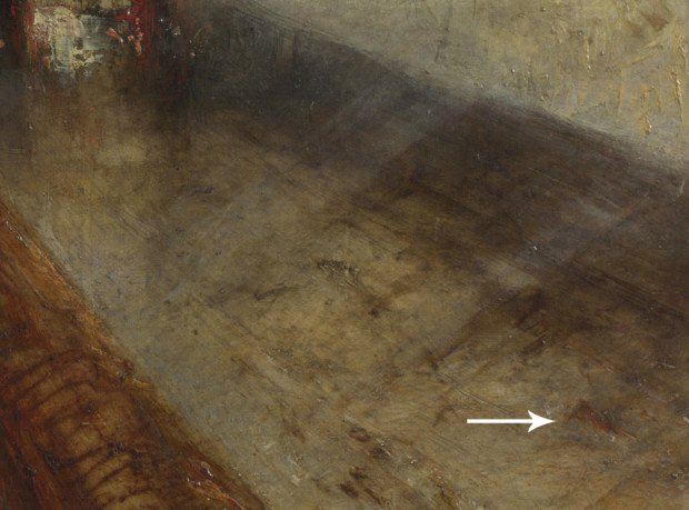 J.M.W. Turner; Rain, Steam and Speed: The Great Western Railway, 1844, The National Gallery, London, the detail