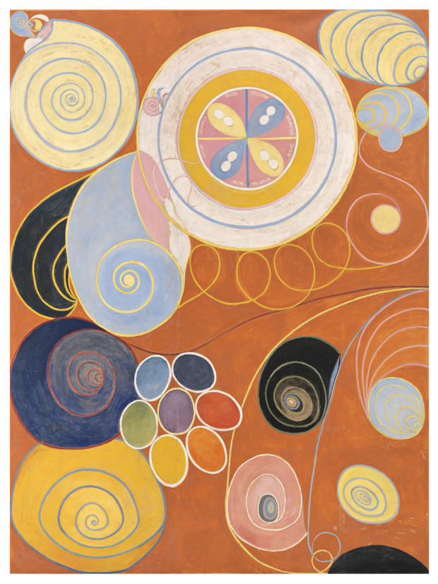 Hilma ad Klint, The Ten Largest, No. 3, Youth, Group IV, 1907, © Stiftelsen Hilma af Klints. Photo: Moderna Museet/Albin Dahlström