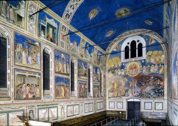The view of the Scrovegni Chapel, Padova