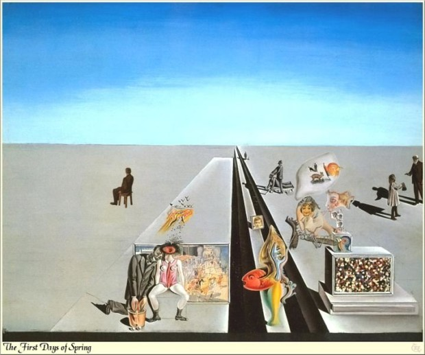spring in art Salvador Dali, The First Days Of Spring, 1929, Salvador Dali Museum, St. Petersburg, FL