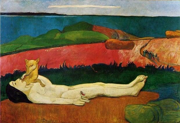 spring in art Paul Gauguin, The Loss Of Virginity (Awakening Of Spring), 1891, Chrysler Museum of Art, Norfolk, VA, US