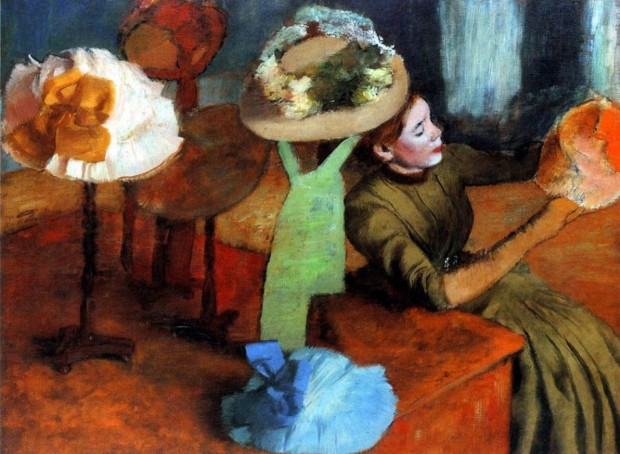 Edgar Degas, The Millinery Shop, 1879/86, Art Institute of Chicago, edgar degas milliners