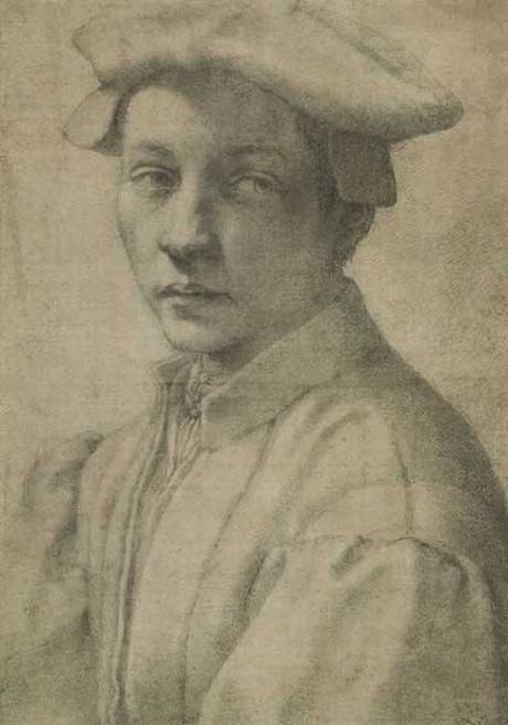 Michelangelo Buonarroti, Portrait of Andrea Quaratesi, 1510, British Museum