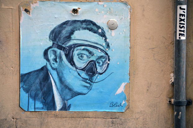 Blub, Street art inspired by Salvador Dali, Florence, Italy
