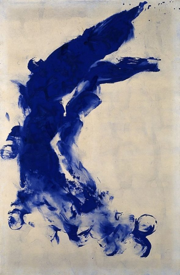 Yves Klein. Anthropometry: Princess Helena. 1960 Blue Yves Klein
