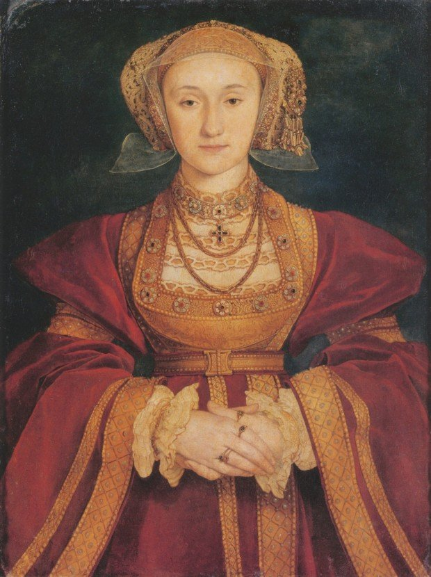 wives Henry VIII: Hans Holbein, Portrait of Anne of Cleves, c. 1539, Louvre, Paris, France.