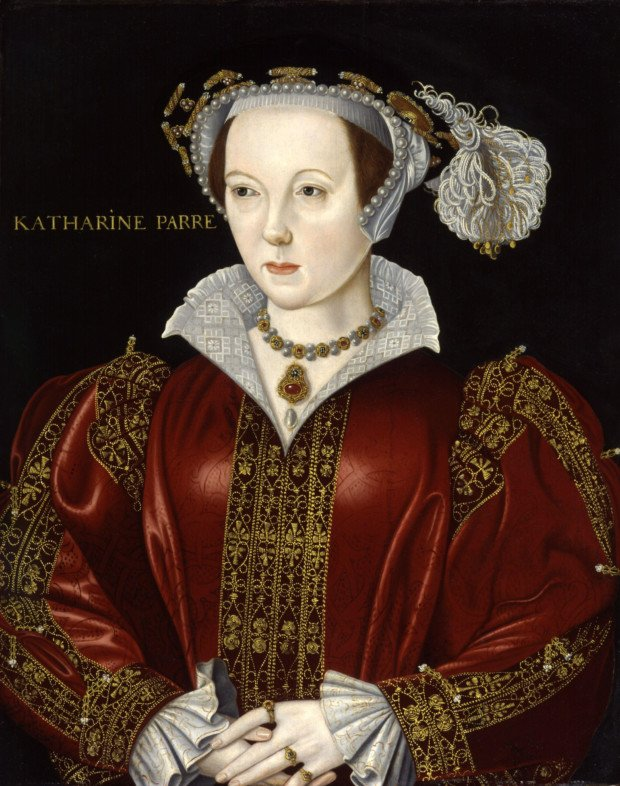 wives Henry VIII: William Scrots (attributed), Portrait of Catherine Parr, date unknown, National Portrait Gallery, London, UK.