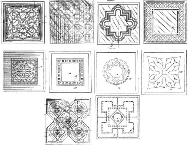 Frank Lloyd Wright, selection of tile designs.