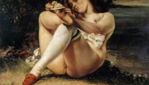 Gustave Courbet, Woman With White Stockings, 1861, Barnes Foundation