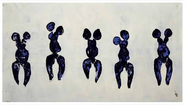 Yves Klein, Anthropometry of the Blue Period (ANT 82), 1960. Artwork © Yves Klein, Artists Rights Society (ARS), New York / ADAGP, Paris, 2017