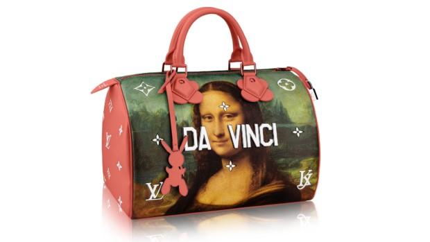 Jeff Koons Louis Vuitton bag da vinci mona lisa