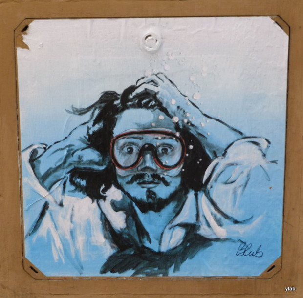 Blub, Street art inspired by Courbet, Florence, Italy.