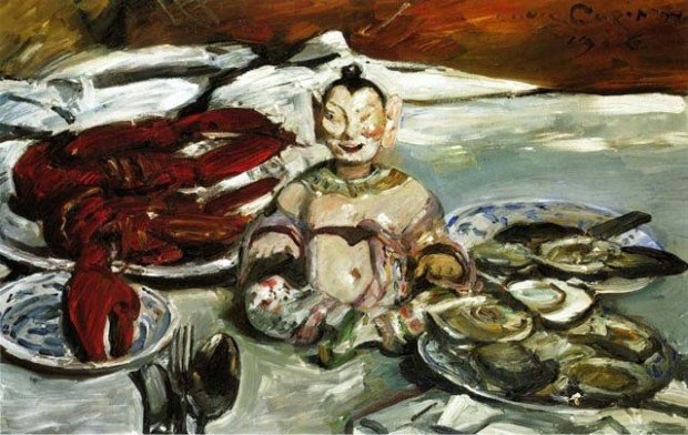 Lovis Corinth, Still Life with Buddha-Lobsters and Oysters, 1916