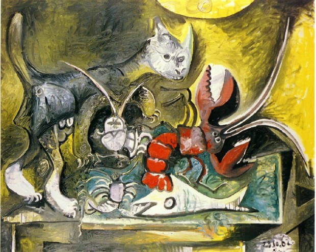 Pablo Picasso, Still life with cat and lobster, 1962