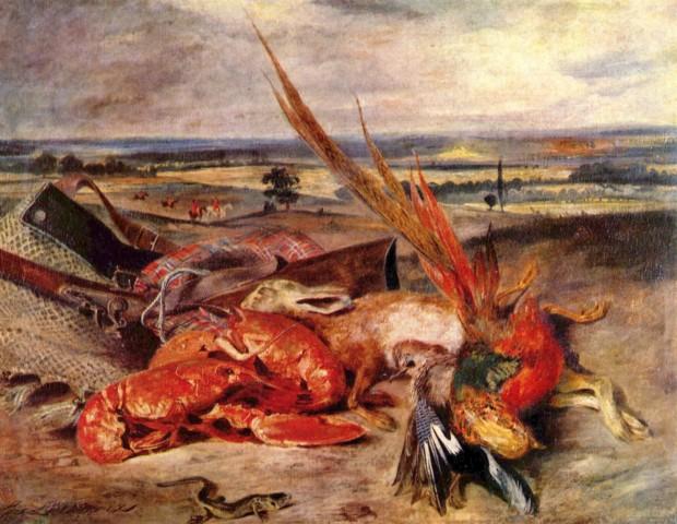 Eugene Delacroix, Still Life with Lobsters,1826-1827, Musée du Louvre, Paris