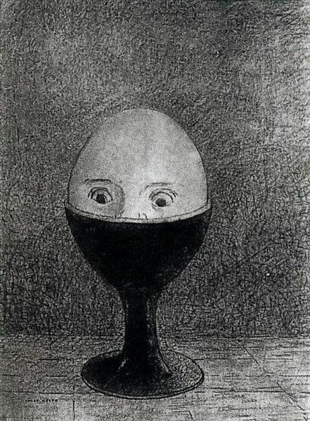 Odilon Redon, The Egg, 1885, National Museum of Serbia, Belgrade, Easter Egg Art