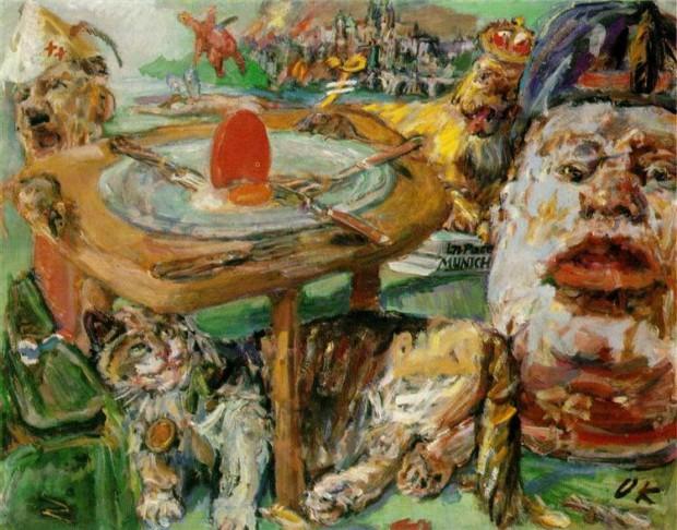 Oskar Kokoschka, The Red Egg, 194, Nationalgalerie Prag, Easter Egg Art