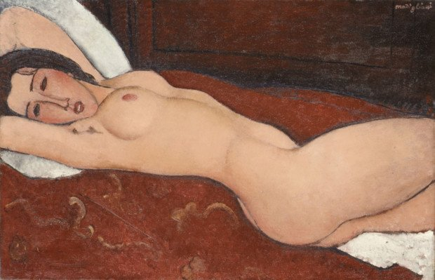 Amedeo Modigliani, Reclining Nude, 1917, The Metropolitan Museum of Art, modigliani nudes nude