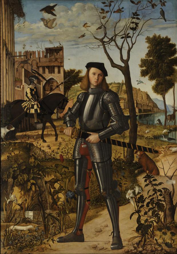 Vittore Carpaccio, Young Knight in a Landscape, 1510, Museo Thyssen-Bornemisza, Madrid Vittore Carpaccio Young Knight Landscape