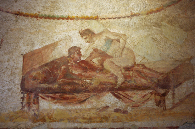Fresco from the Pompeii brothel, photographer: Thomas Shahan Erotic Art Pompeii Herculaneum