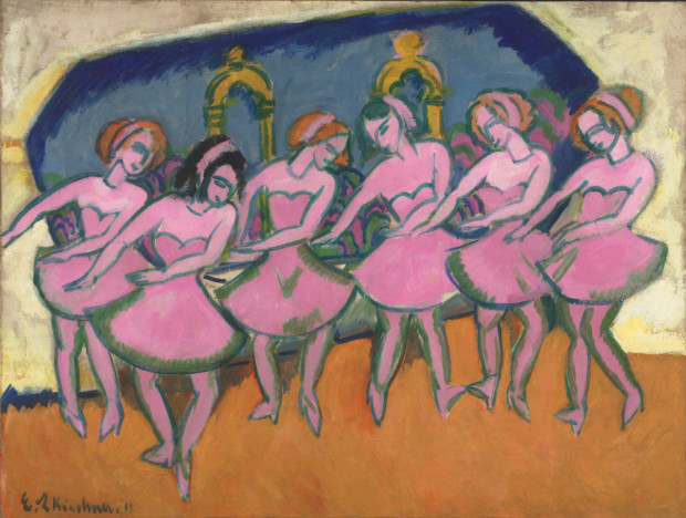 Ernst Ludwig Kirchner, Six Dancers, 1911, Virginia Museum of Fine Arts