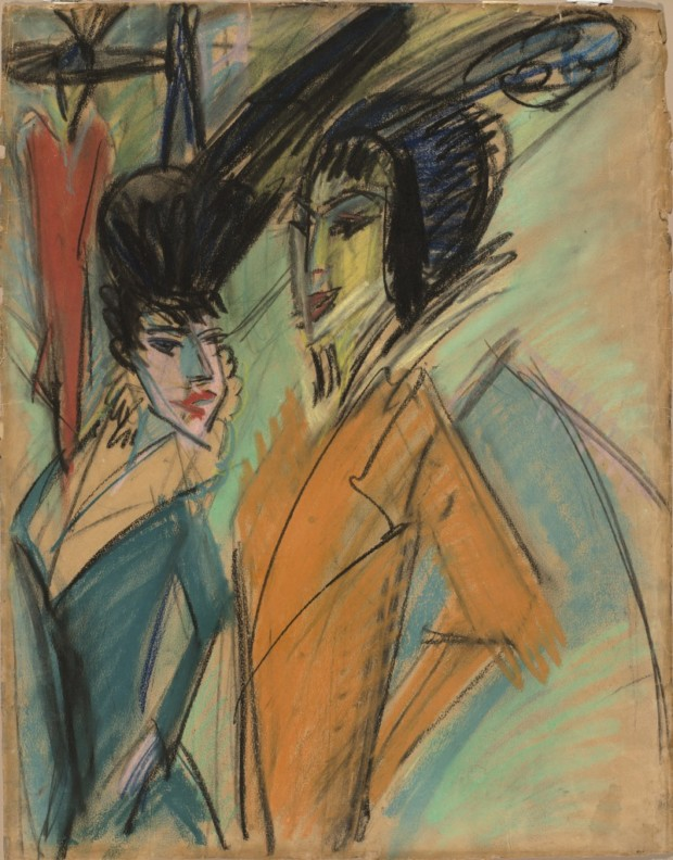 Ernst Ludwig Kirchner, Two Streetwalkers, Virginia Museum of Fine Arts