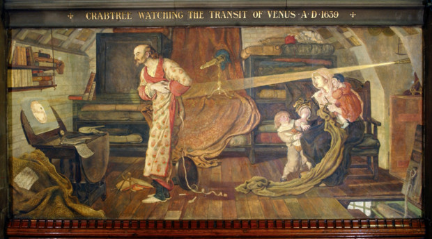 Ford Maddox Brown, Crabtree Watching the transit of Venus, 1893, Manchester Town Hall, manchester