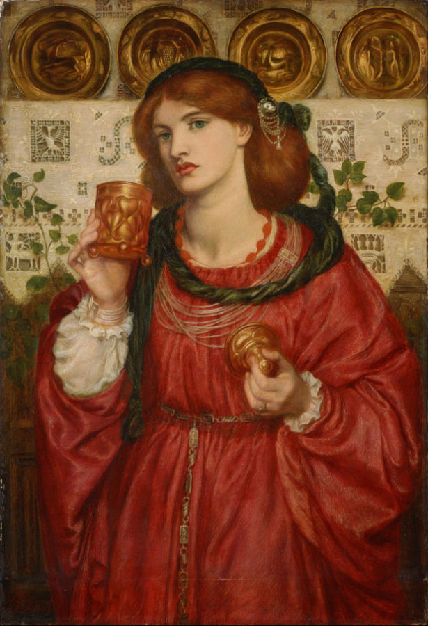 Dante Gabriel Rossetti, The Loving Cup, 1867, National Museum of Western Art, Tokyo Red Dresses Art