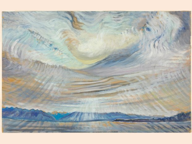Emily Carr, Sky (ciel), 1935-6 oil on wove paper, 58.7 x 90.7 cm (National Gallery of Canada) Beyond Stars Mystical Landscape