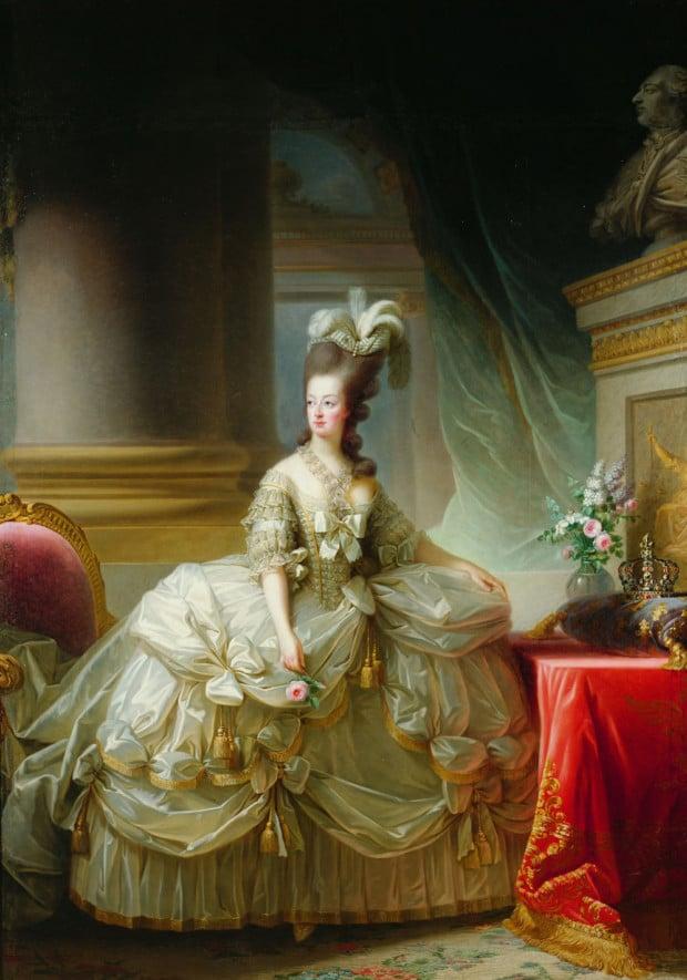 Portraits of Queen Marie Antoinette: Élisabeth Louise Vigée-Le Brun, Archduchess Marie Antoinette, Queen of France, 1778, Kunsthistorisches Museum, Vienna, Austria.