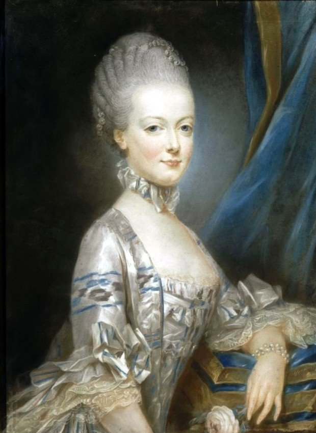 Portraits of Queen Marie Antoinette: Joseph Ducreux, Marie Antoinette at the age of thirteen, 1769, Palace of Versailles, Versailles, France.