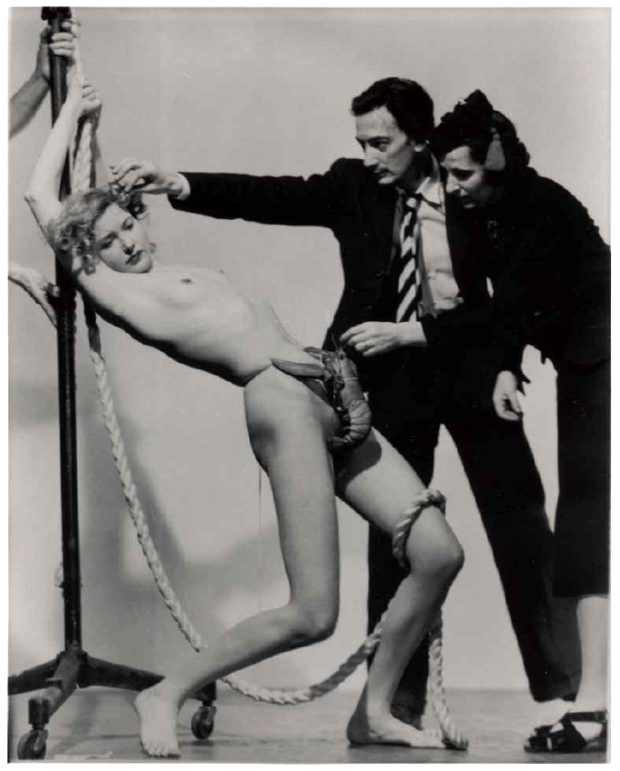 Salvador Dali weird Murray Korman with Salvador Dali, Dream of Venus, 1939