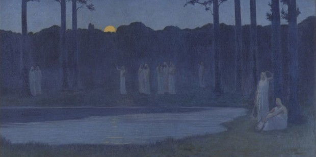 Alphonse Osbert (1857-1939), Les chants de la nuit, 1896, musée d'Orsay, Paris ©photo musée d'Orsay / rmn Beyond Stars Mystical Landscape