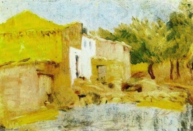 Pablo Picasso, Mas del Quiquet (Quiquet's Farmhouse), 1898, Museu Picasso, Barcelona