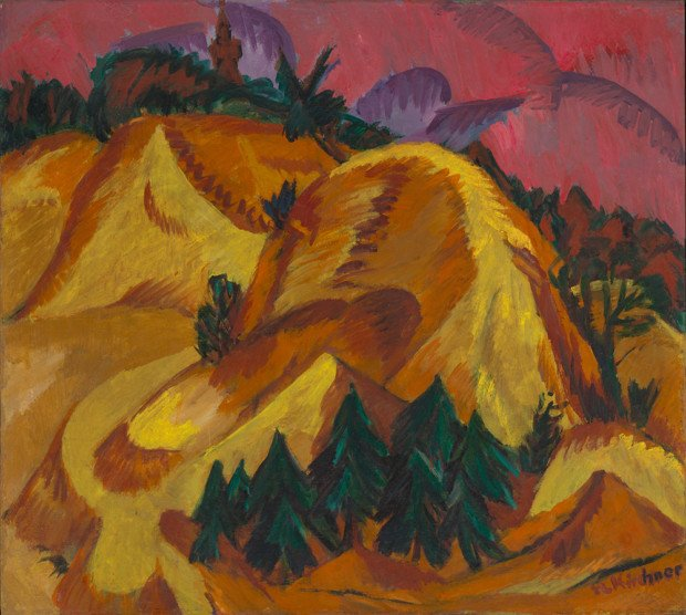 Ernst Ludwig Kirchner, Sand Hills at Grünau, 1917-18, Virginia Museum of Fine Arts