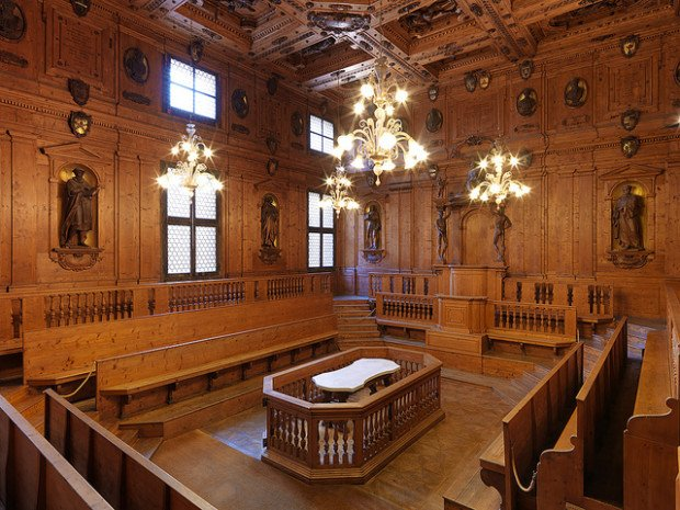 Anatomical theatres in Italy: Anatomical Theatre of the Archiginnasio, Bologna, Italy.