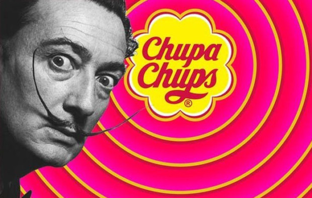Salvador Dali and Chupa Chups Salvador Dali weird